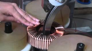 getlinkyoutube.com-toroidal winding machine -toroidal winder -current transformer winding machine winding machine