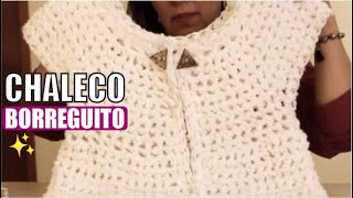 Chaleco Borreguito -Tejido con dedos - Tejiendo con Laura Cepeda