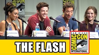getlinkyoutube.com-The Flash Comic Con Panel - Season 2, Grant Gustin, Candice Patton, Danielle Panabaker