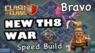 getlinkyoutube.com-TH8 New Anti Dragon WAR Base (Bravo) - Speed Build with 4 Mortars