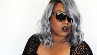 getlinkyoutube.com-Fifty Shades of Grey PT 2 || How I Got My Steel Grey Bob || Ft Eva Wigs & Adore Platinum Dye