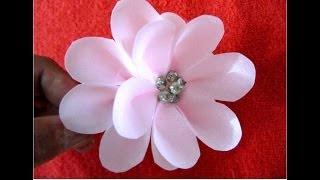getlinkyoutube.com-Flores en telas en alto relieve para el cabello