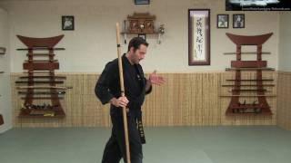 Rokushaku Bo Introduction - Part 1 of 3 - Ninjutsu Weaons Instruction Online