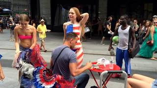 getlinkyoutube.com-Body Painting TopLess in Times Square