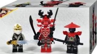 getlinkyoutube.com-레고 닌자고 쟌, 코주 장군, 검투사 미니피규어 70504 가마트론 LEGO Ninjago Garmatron