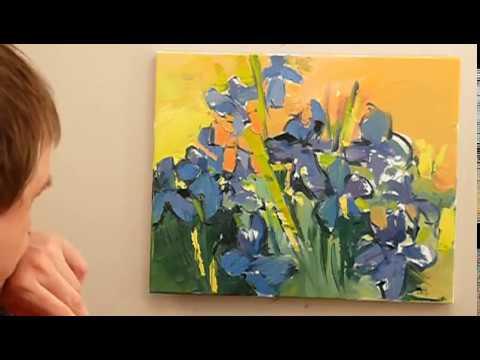 Jak malować farbami olejnymi? - IRYSY cz.2 - MALUJ SAM(A)
