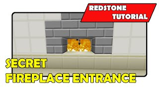 "getlinkyoutube.com-Secret Fireplace Entrance [Simple] ""Redstone Tutorial"" (Minecraft Xbox/PlayStation/PS Vita)"