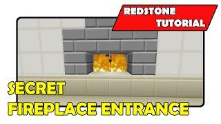 "Secret Fireplace Entrance [Simple] ""Redstone Tutorial"" (Minecraft Xbox/PlayStation/PS Vita)"