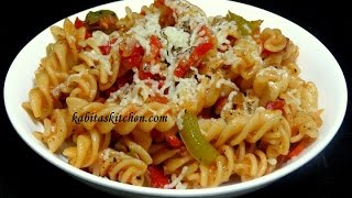 getlinkyoutube.com-Vegetable Cheesy Pasta Recipe-Indian Style Pasta-Easy and Delicious Pasta rceipe