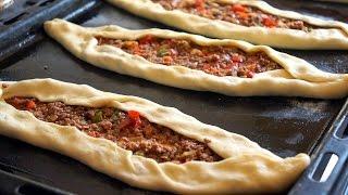 getlinkyoutube.com-البيتزا التركية بالكفتة لذييذة معجنات Turkish Pizza Amazingly Delicious - Fatemahisokay