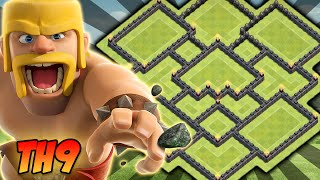 getlinkyoutube.com-O MAIS TOP LAYOUT DE FARM CV9 COMPLETO [Híbrido] Clash of Clans 2016