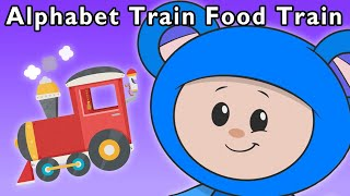 getlinkyoutube.com-Alphabet Train Food Train | Mother Goose Club Rhymes for Kids