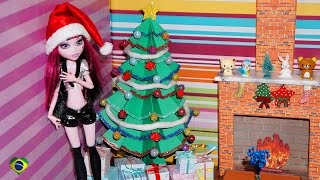 getlinkyoutube.com-Como fazer árvore de natal para boneca Monster High, Barbie, EAH, etc
