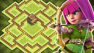 Clash of Clans - BEST TH8 Farming BASE! NEW TH11 December Update - (CoC Town hall 8 Hybrid Base!)