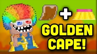 getlinkyoutube.com-Growtopia | Golden cape? Real or fake?