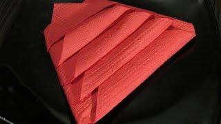 Способы складывать салфетки.Ways to fold napkins.