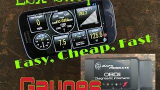 getlinkyoutube.com-LSx Swap Gauges Simple, Easy, Cheap & Code Reader OBDII -Check Engine Light DTC Bluetooth OBD2