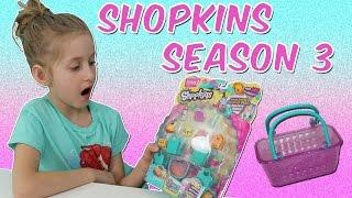 getlinkyoutube.com-Shopkins Season 3 Blind Baskets Surprise Package From Moose Toys
