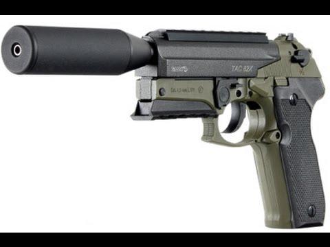 Pistola co2 gamo tac 82x com silenciador chumbinho 4,5mm 120M/S