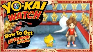 getlinkyoutube.com-Yo-Kai Watch - How To Get ALL 55 U.S. Passwords + Trophies! [Tips & Tricks]