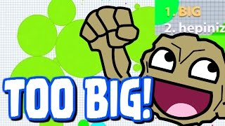 "getlinkyoutube.com-""WAY TO BIG!!"" - Agar.io Official App (IOS / Android) - Agar.io Walkthrough Part 18"