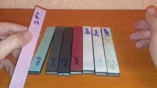getlinkyoutube.com-Набор точильных камней #240 - #10000, для точилки клон Apex(Китай)