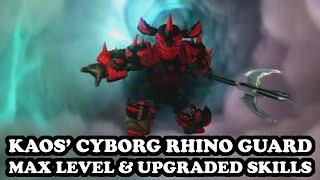 Skylanders Imaginators - Kaos' Cyborg Rhino Guard - MAX LEVEL & UPGRADED SKILLS
