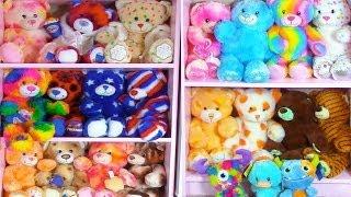 getlinkyoutube.com-Build A Bear Collection Plush Stuffed Animals Room Tour Haul - Cookieswirlc Video