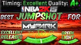 getlinkyoutube.com-Best Jumper/Release For My Park!  Excellent & Perfect Release Everyime!  - NBA 2K15 MyPARK