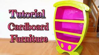 getlinkyoutube.com-DIY crafts: how to make a cardboard cartoon furniture - handmade - Youtube - Isa ❤️