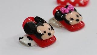 ปั้นนูนเจล ลายเล็บมิกกี้เมาส์ Mickey Mouse Nail Art Design (3D)