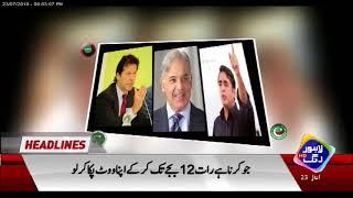 News Headlines | 8:00 PM | 23 July 2018 | Lahore Rang width=