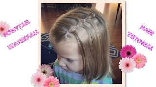 getlinkyoutube.com-Hair tutorial for Little Girls- Ponytail waterfall