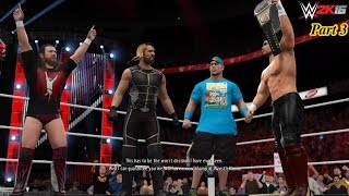 WWE 2K16 My Career Mode Cutscenes Part 3 Betrayed by Triple H & feud vs Lesnar & Bryan/Cena/Rollins
