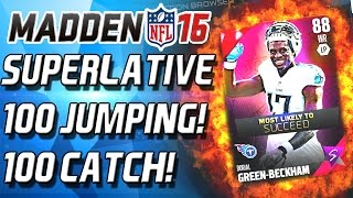 getlinkyoutube.com-100 CATCH! 100 JUMP! Madden Superlatives! - Madden 16 Ultimate Team -