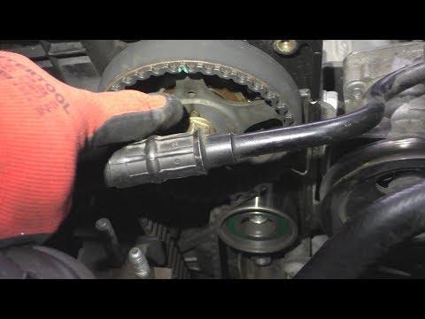 Hyundai Getz 1,4 16v Замена ремня ГРМ,помпы,прокладки клапанной крышки.Replacing timing belt, pump,