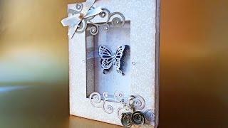 getlinkyoutube.com-Quadretto con farfalla Natalizio - Christmas Butterfly Frame ft. Dawanda