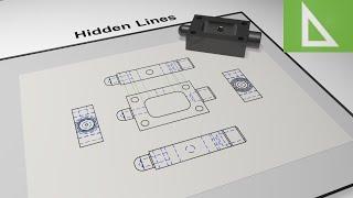 getlinkyoutube.com-Hidden Detail & Lines in Engineering Drawing & CAD. Animation