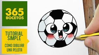 getlinkyoutube.com-COMO DIBUJAR UNA PELOTA KAWAII PASO A PASO - Dibujos kawaii faciles - How to draw a ball