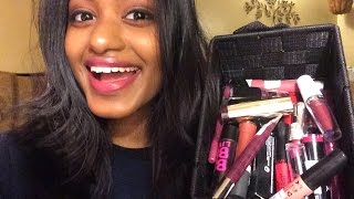 getlinkyoutube.com-My Lipstick Collection + Lip Swatches Indian/Dark Skin