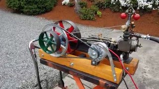 getlinkyoutube.com-Steam engine and boiler alternator off grid