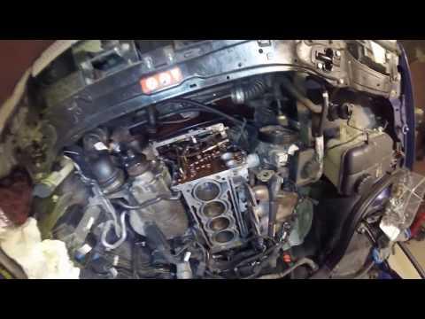 Как поменять цепь и ванос и установить голову Mercedes C180 W203