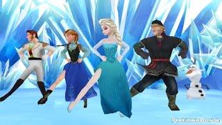 getlinkyoutube.com-Frozen Gangnam Style [MMD]