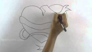 getlinkyoutube.com-How to Draw a Fantasy Heart