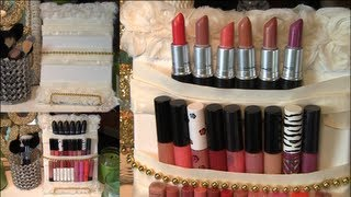 getlinkyoutube.com-DIY Cute Makeup/Lipstick Holder Display