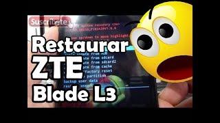 getlinkyoutube.com-Cómo restaurar el ZTE Blade L3 al estado de fábrica Español