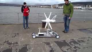 getlinkyoutube.com-Wind Turbine Powered Car Test