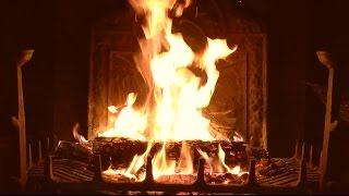 getlinkyoutube.com-Bright Burning Yule Log Fireplace with Crackling Fire Sounds (HD)