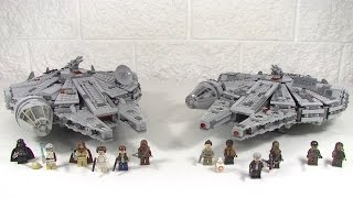 getlinkyoutube.com-Lego Millennium Falcon 7965 vs 75105 Review and Comparison