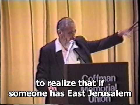 Rabbi Meir Kahane Confronts Protesters At Speech in Minnesota